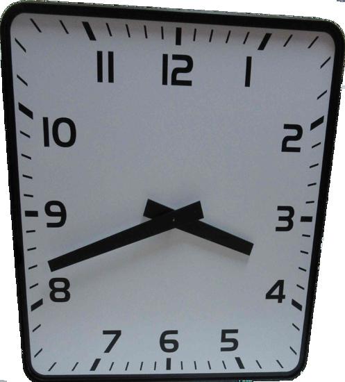 Picture of Dvostrani pravokutni analogni sat 80 cm ELAK EAC2080R